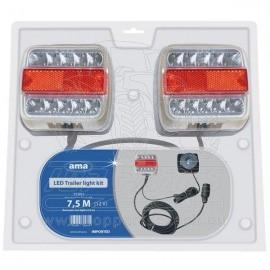 Sada koncových magnetických světel LED 7,5m/2,5m