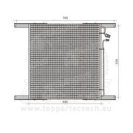 Chladič klima DAF 505x540x16