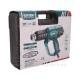 pistole horkovzdušná s plynulou regulací teploty a proudu vzduchu, 2000W