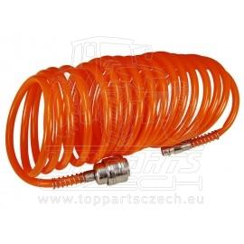 """hadice vzduchová spirálová s rychlospojkami, 1/4"""",∅vnitřní 6mm, L 5m"""