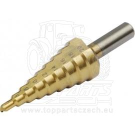 vrták stupňovitý,∅4-20mm, TiN