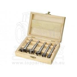 frézy-sukovníky, do dřeva, sada 5ks,∅15-20-25-30-35mm, stopka 8mm, v dřevěné kazetě