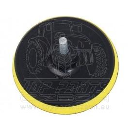 nosič brusných výseků do vrtačky - suchý zip,∅125mm, stopka 8mm
