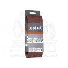 plátno brusné nekonečný pás, bal. 3ks, P80, 75x457mm