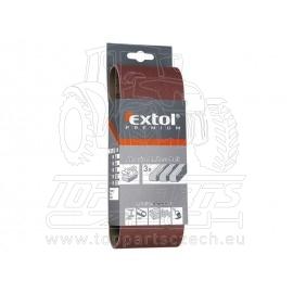 plátno brusné nekonečný pás, bal. 3ks, P100, 75x533mm