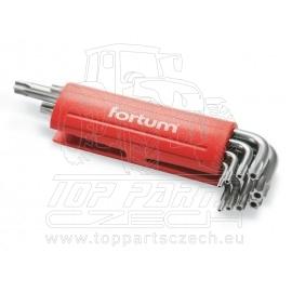 L-klíče TORX vrtané, sada 9ks, TTa10-50mm