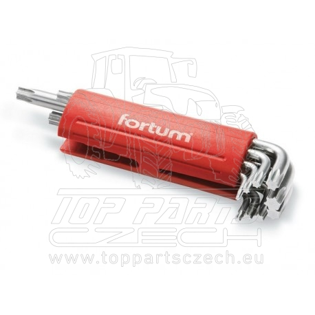 L-klíče TORX, sada 9ks, T10-50mm