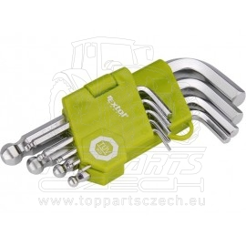 L-klíče imbus krátké, sada 9ks, H1,5-10mm