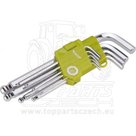 L-klíče imbus, sada 9ks, H1,5-10mm