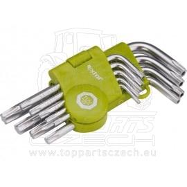 L-klíče TORX krátké, sada 9ks, T10-50mm