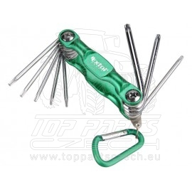 klíče TORX, sada 8ks, T6-25mm