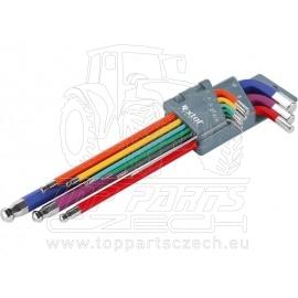 L-klíče imbus prodloužené barevné, sada 9ks, H1,5-10mm