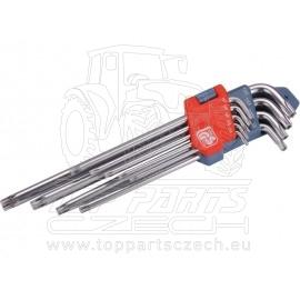 L-klíče TORX prodloužené, sada 9ks, T10-50mm