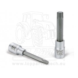 "hlavice zástrčná prodloužený TORX, 1/2"", TX 45, L 100mm, CrV/S2"