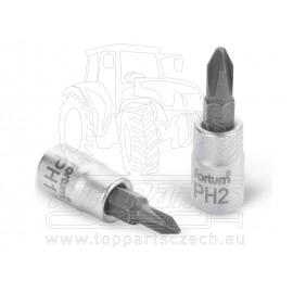 """hlavice zástrčná šroubovák PH, 1/4"""", PH 2, L 37mm"""