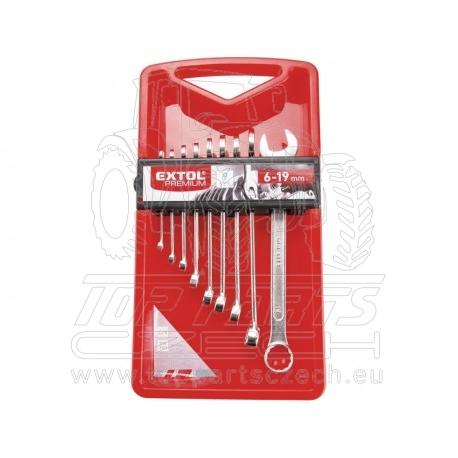 klíče očkoploché, sada 9ks, 6-19mm